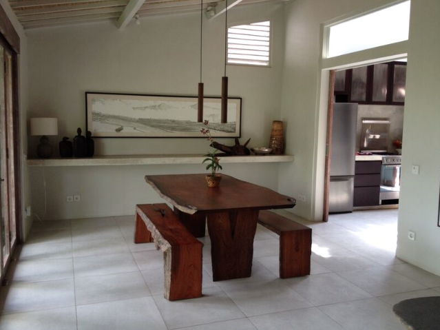 Dining area of Marni's home in Bali.