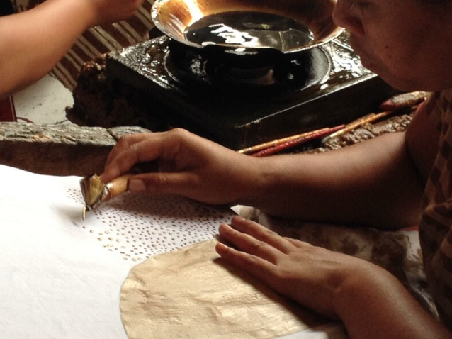 Creativity and craftsmanship in action at David's Studio in Bali.